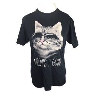 """Black Matter """"Meow's It Goin"""" Short Sleeve T Shirt"""